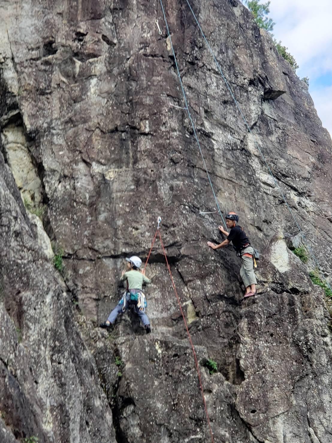 不動岩クライミング 東壁と東稜_b0227552_21484757.jpg