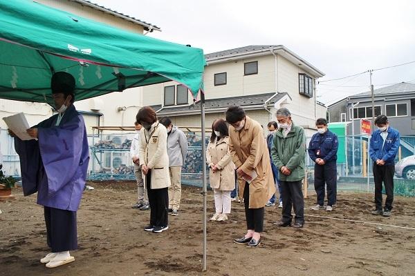 茅ヶ崎市で地鎮祭です_c0130172_13471184.jpg