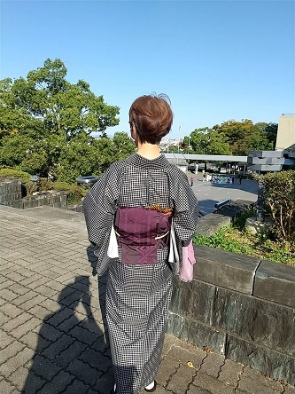 着物で県立近代美術館へ_d0043390_21335720.jpg