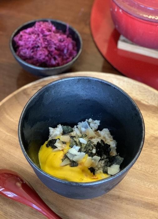 お野菜のソースとオートミール など 朝食写真_e0178312_03073545.jpeg