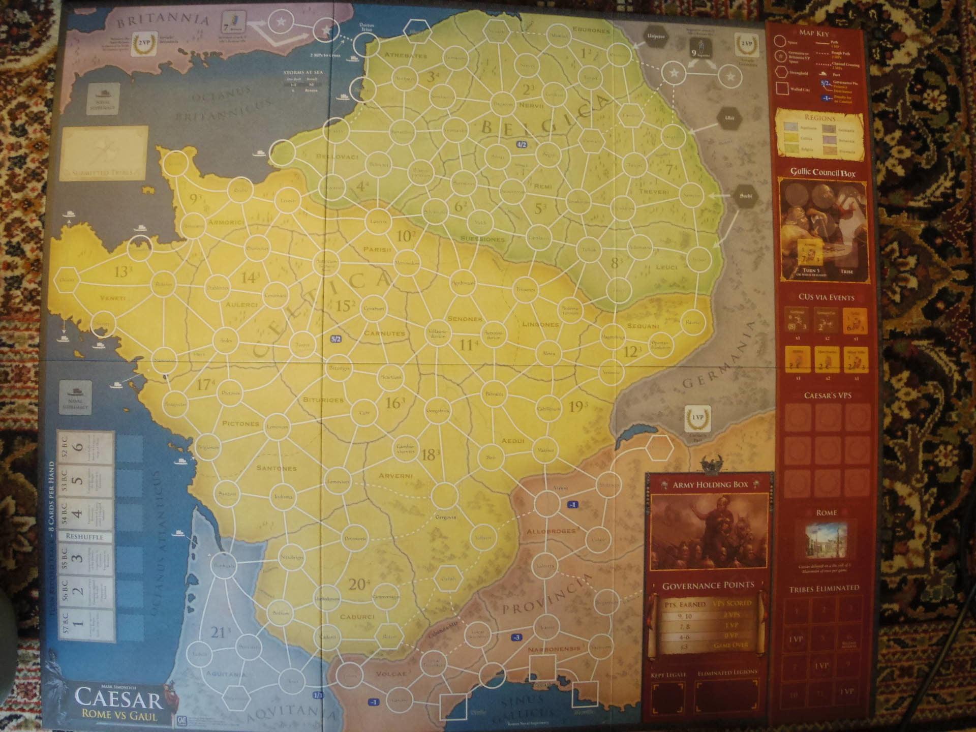 (GMT最新作) Caesar: Rome vs. Gaul シモニッチ御大によるHannibal直系のカードドリブン!!_b0173672_09524053.jpg