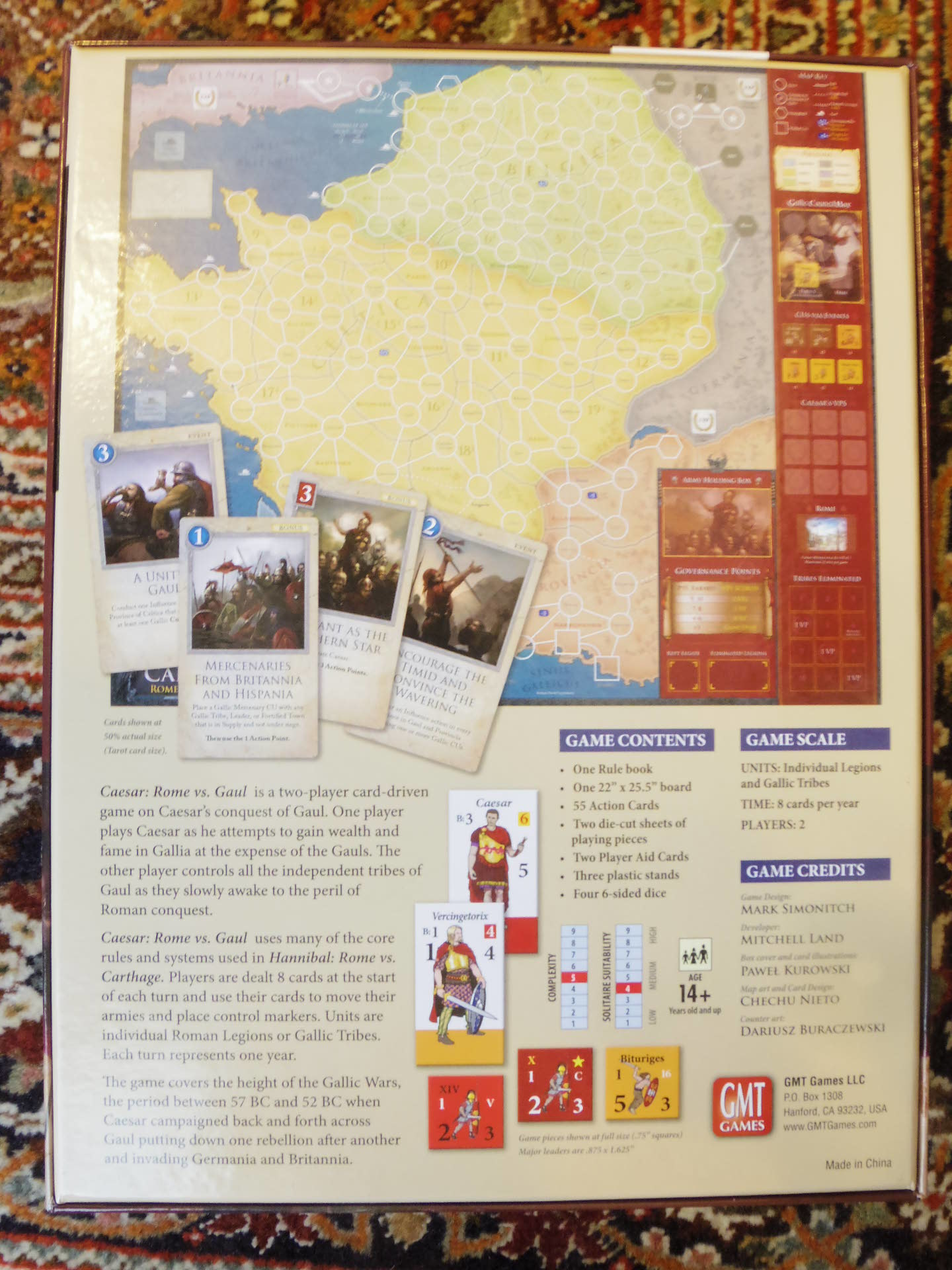 (GMT最新作) Caesar: Rome vs. Gaul シモニッチ御大によるHannibal直系のカードドリブン!!_b0173672_09524156.jpg