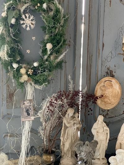 クリスマスリース2020 今年はオーバルに♪_e0237680_13290009.jpg