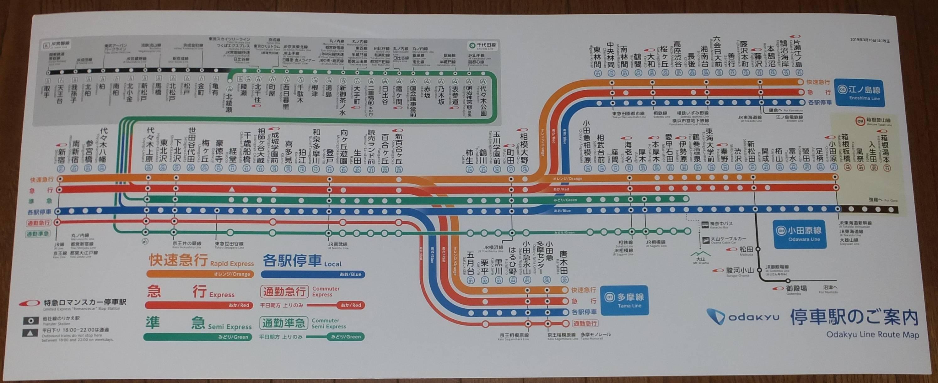 小田原 線 路線 図 小田急