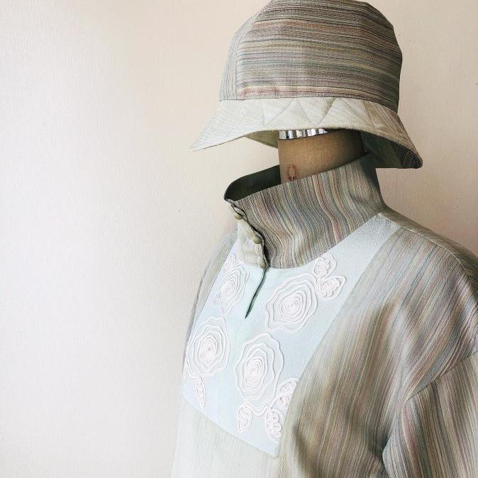 着物リメイク・お着物からパンツとトップスのセットアップ_d0127925_11572283.jpg