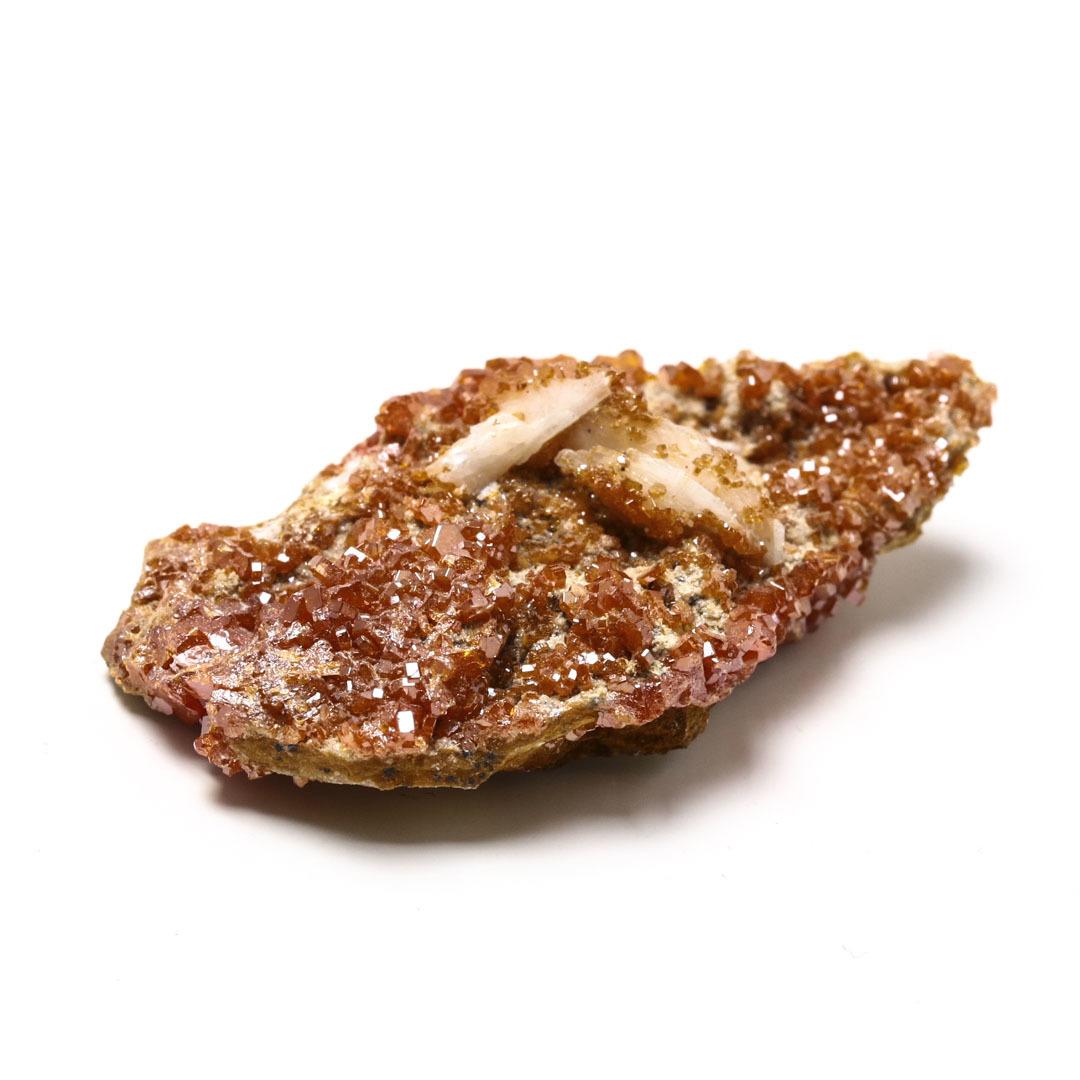 溢れ出るキラキラ感 ヴァナジナイトwithバライトの原石 モロッコ産_d0303974_13092085.jpg