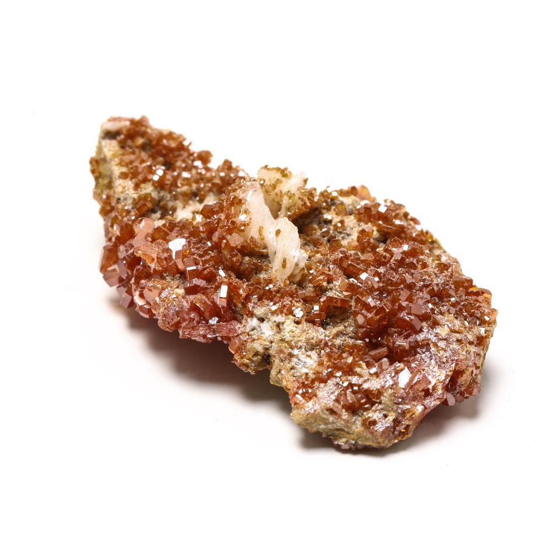 溢れ出るキラキラ感 ヴァナジナイトwithバライトの原石 モロッコ産_d0303974_13120908.jpg