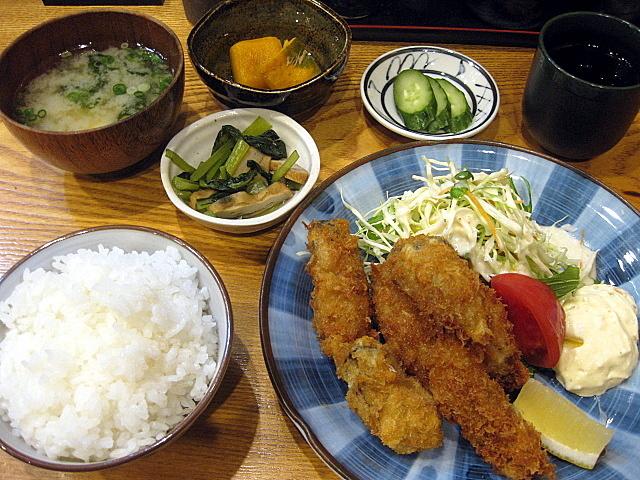 定食屋「きづいち」のカキフライ定食 @西宮北口_a0048918_06252492.jpg