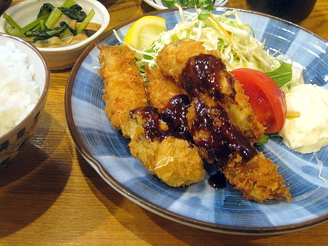 定食屋「きづいち」のカキフライ定食 @西宮北口_a0048918_06265747.jpg