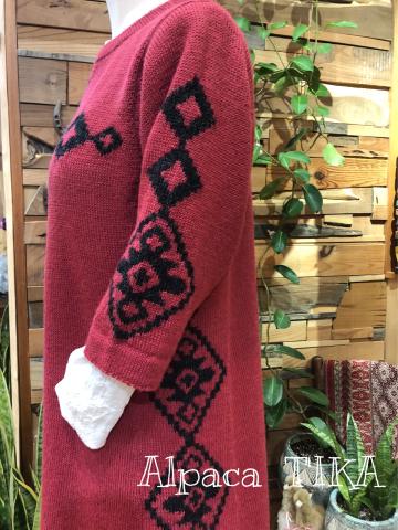 新作!新色水色アルパカ100%セーター・綺麗なピンク色チュニックワンピース_d0187468_13405868.jpg