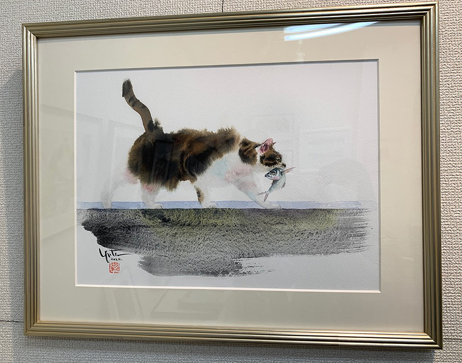 【村上ゆたか☆猫の水彩画展スタートします(*≧∀≦*) 】_e0115223_04014511.jpg