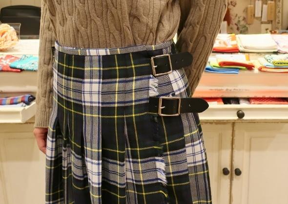2020年3個ベルトウールキルトスカートです。_c0227633_12005009.jpg