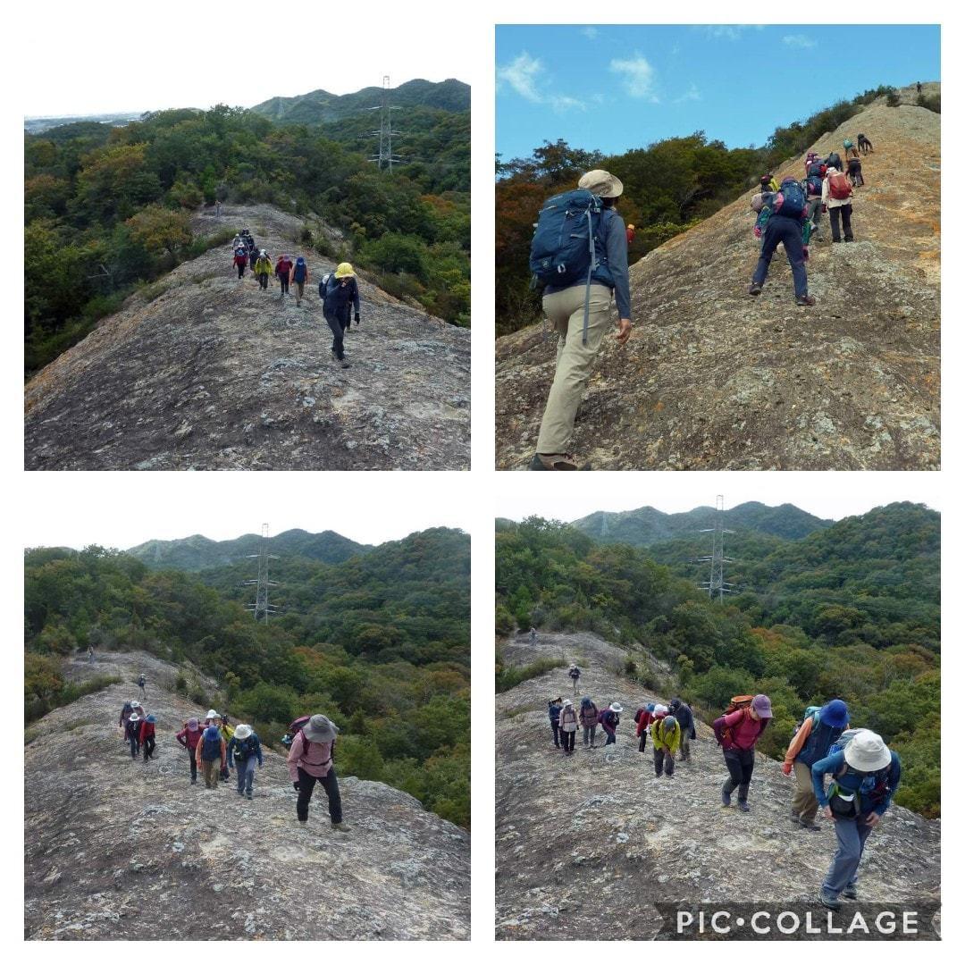 スリル満点 小野アルプス 『紅山』岩登り_c0218841_14375024.jpg