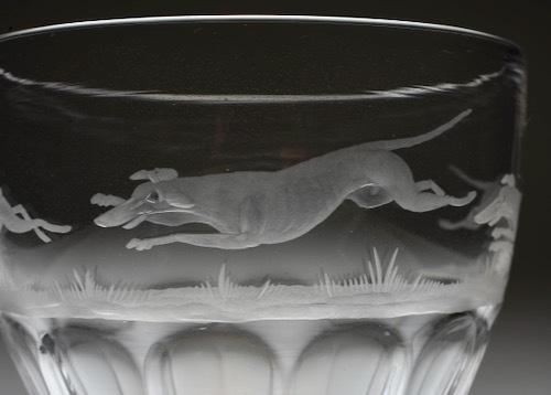 英国製 ウサギ&2匹の犬 グラヴュール ゴブレット_c0108595_23501757.jpeg