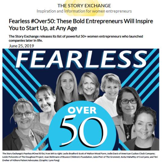 """近年、アメリカでは45歳過ぎから起業する女性が増加トレンド、""""Fearless #Over50""""_b0007805_04121504.jpg"""