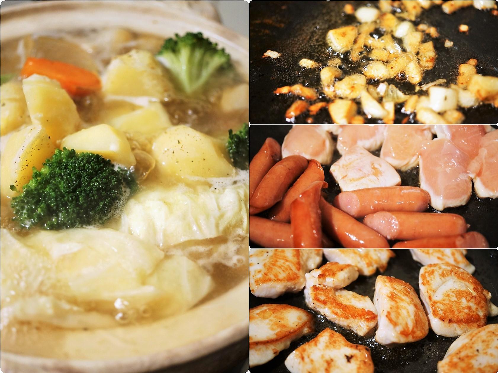■【ポトフ】柔らか鶏胸肉・ウインナーに菜園採り蕪・大根・ジャガイモも入れました^0^_b0033423_20053243.jpg