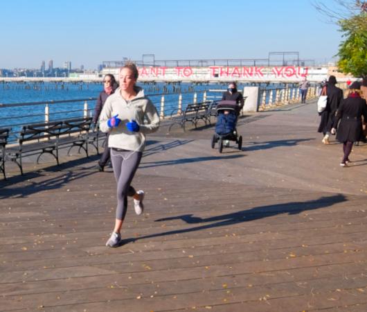 コロナ禍のNYにオープンした最新水上公園ピア26(Pier 26)へ、ハドソン川公園沿いをお散歩_b0007805_04294679.jpg