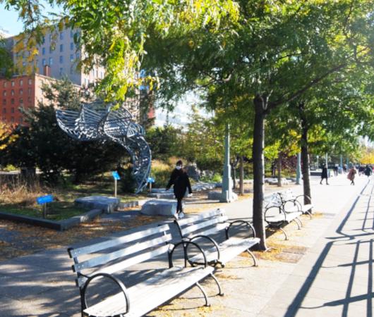 コロナ禍のNYにオープンした最新水上公園ピア26(Pier 26)へ、ハドソン川公園沿いをお散歩_b0007805_04312310.jpg