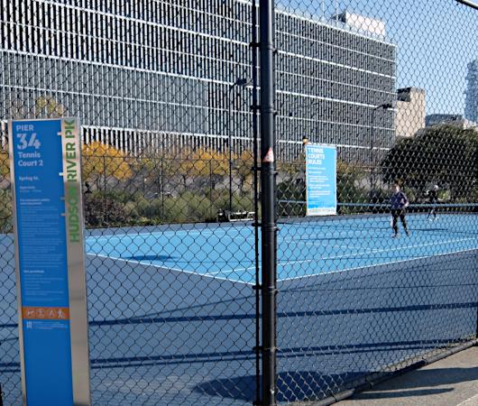 無料で使えるテニスやバスケのコート@ハドソン・リバー・パーク_b0007805_05283970.jpg