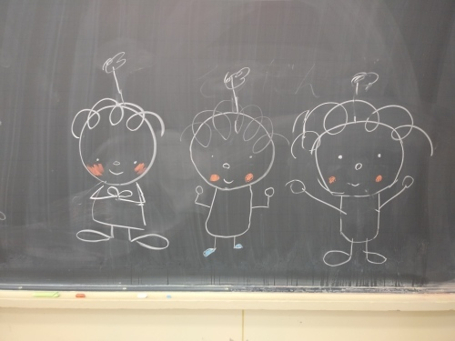 子どもたちが描いてくれたライトちゃんたちの絵。ワークショップ後。私たちにとってはギフトでした。_d0204305_16295259.jpg