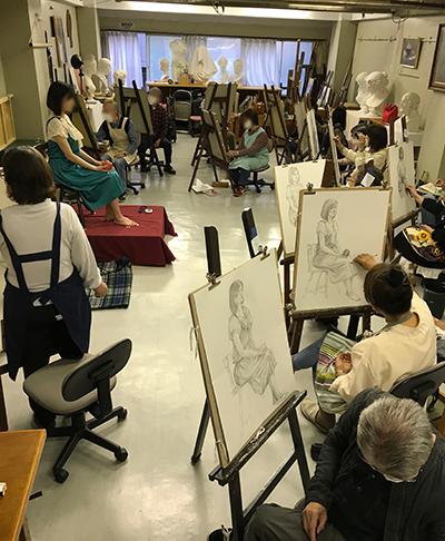 日本画科井上クラス 「モデル実習 パート1」 _b0107314_16044818.jpg