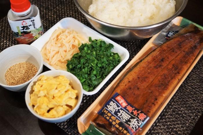 ■寿司類【鰻・玉子・大根葉の散らし寿司】_b0033423_19481012.jpg
