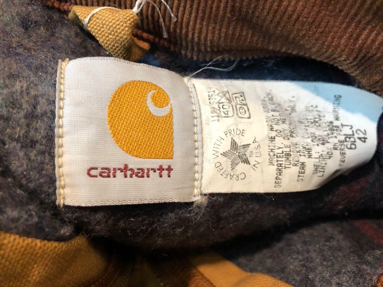 11月14日(土)入荷!80s〜MADE IN U.S.A  CARHARTT カーハート  デトロイトジャケット!_c0144020_13350641.jpg