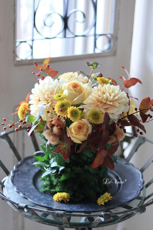 11月Living flower『Autumn deepening forest』_e0158653_21145695.jpg