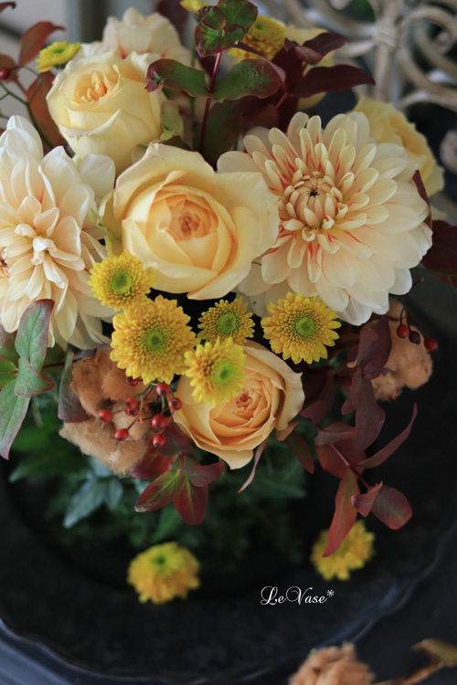 11月Living flower『Autumn deepening forest』_e0158653_21150467.jpg