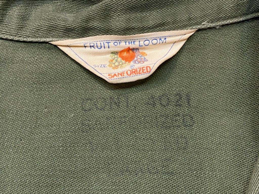 11月14日(土)マグネッツ大阪店スーペリア入荷日!!#7 U.S.Army Part1編!! 1950\'s~70\'s OG107 UtilityShirt!!_c0078587_12440510.jpg