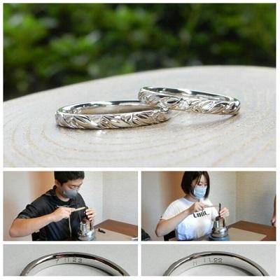 月桂樹をモチーフにした結婚指輪 オーダーメイド   岡山_d0237570_14314965.jpg