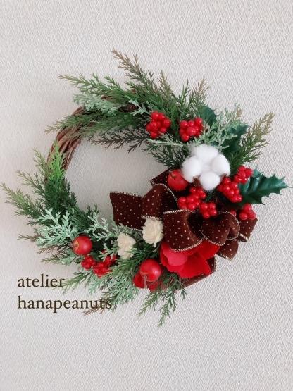 クリスマスリース2020_a0134245_16334457.jpeg