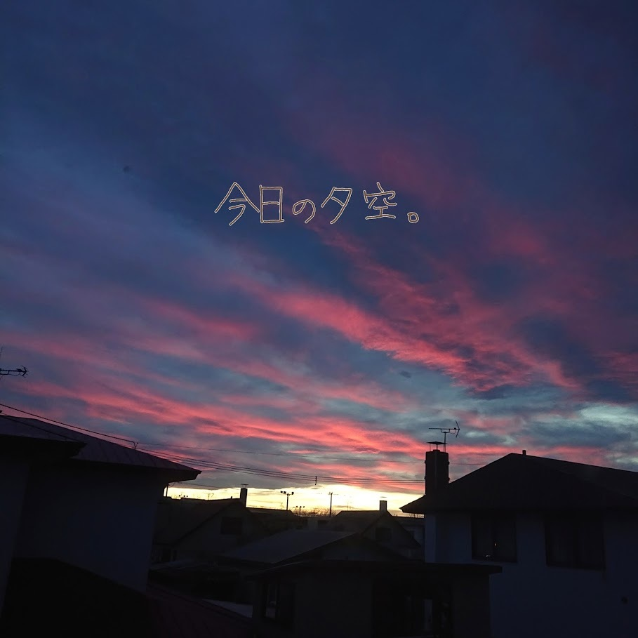 [English] rice(3) / [photo] 今日の夕空_e0132084_22422841.jpg