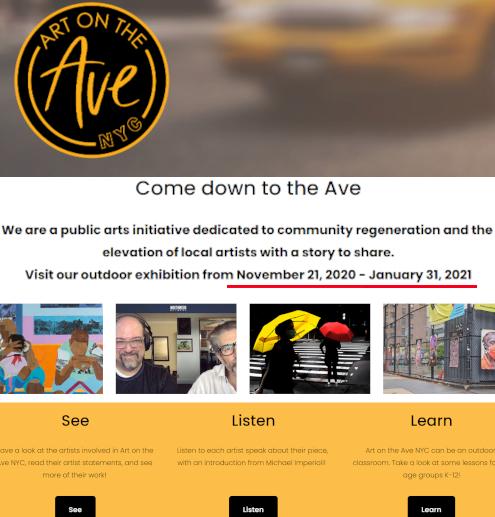 いかにもニューヨークらしいコロナ禍の経済対策『アート・オン・ザ・アベニューNYC』(Art On The Avenue NYC)_b0007805_03391251.jpg