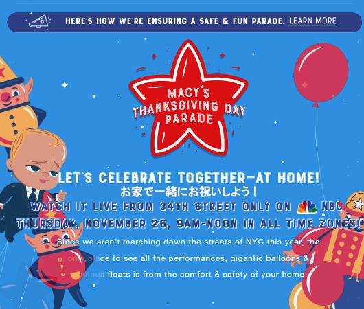 サンクスギビング・デー・パレード 2020はテレビとインターネットの中継で_b0007805_03152058.jpg