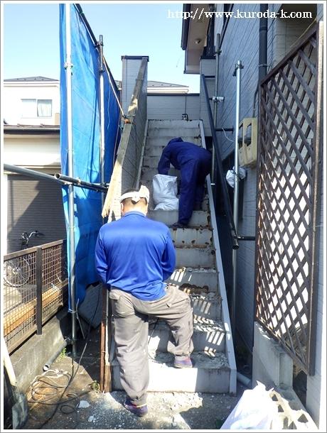 本日から外階段の解体工事スタートです! あきる野市I様邸_c0322812_19143753.jpg