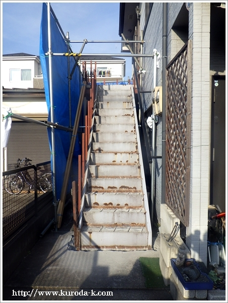 本日から外階段の解体工事スタートです! あきる野市I様邸_c0322812_19145206.jpg