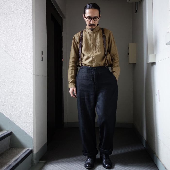 1月の製作 / classic heavylinen trousers_e0130546_12364474.jpg