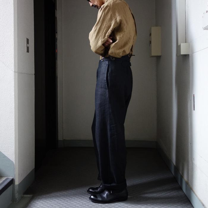 1月の製作 / classic heavylinen trousers_e0130546_12370332.jpg