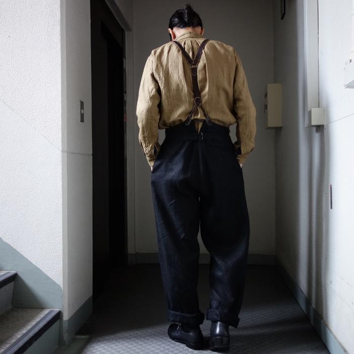 1月の製作 / classic heavylinen trousers_e0130546_12372078.jpg
