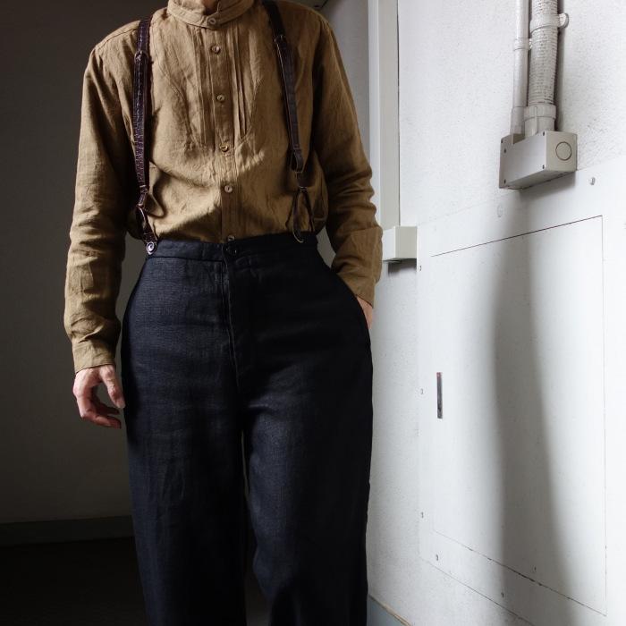 1月の製作 / classic heavylinen trousers_e0130546_12375255.jpg