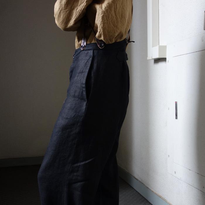 1月の製作 / classic heavylinen trousers_e0130546_12382509.jpg