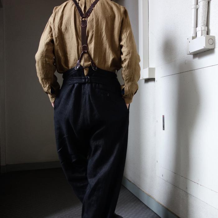 1月の製作 / classic heavylinen trousers_e0130546_12384157.jpg