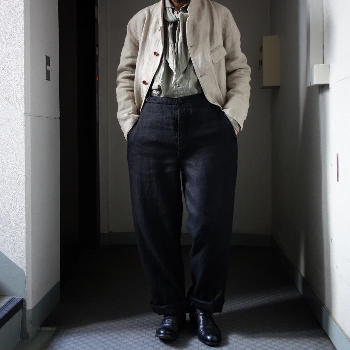 1月の製作 / classic heavylinen trousers_e0130546_12391003.jpg