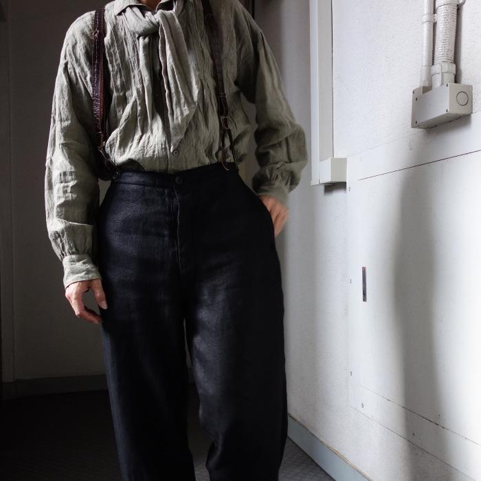 1月の製作 / classic heavylinen trousers_e0130546_12392839.jpg