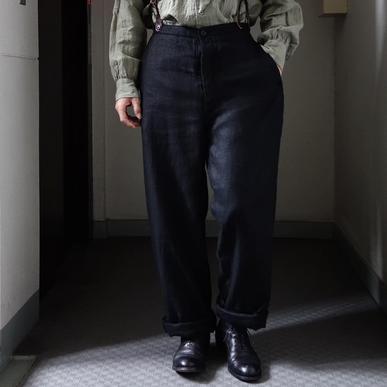 1月の製作 / classic heavylinen trousers_e0130546_12394442.jpg