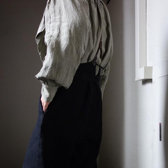 1月の製作 / classic heavylinen trousers_e0130546_12400098.jpg
