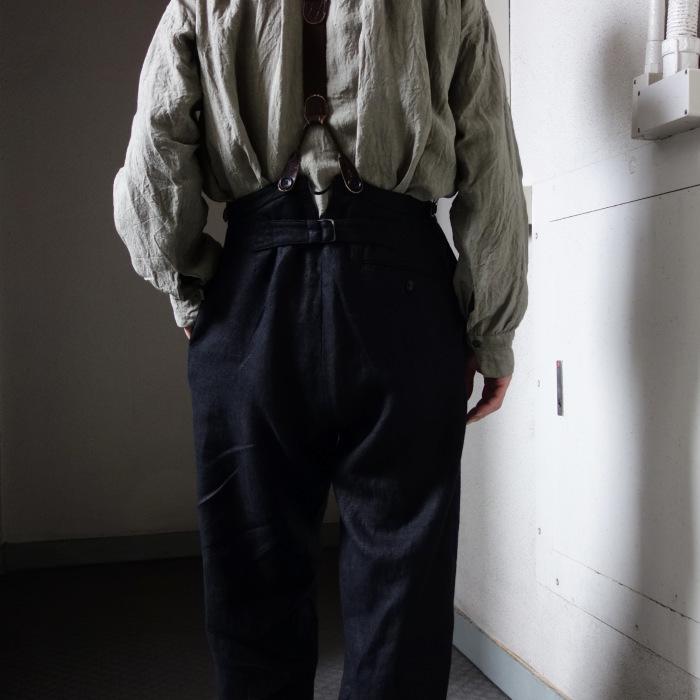 1月の製作 / classic heavylinen trousers_e0130546_12404108.jpg