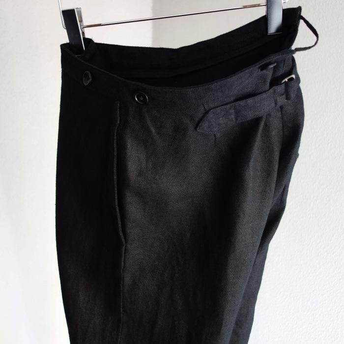 1月の製作 / classic heavylinen trousers_e0130546_12470486.jpg