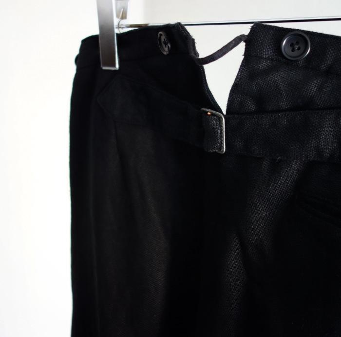 1月の製作 / classic heavylinen trousers_e0130546_12525824.jpg